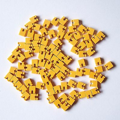 "500 PCS Orange Open Top Mini Jumper for 2.54mm 0.1"" Pin Header Spacing Shunt P43"