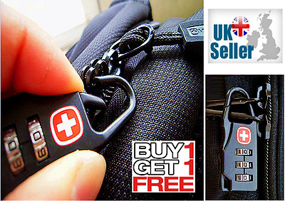 Buy 1 Get 1 Free – Travel Security Luggage Locks 3-Dial Combination (Black)