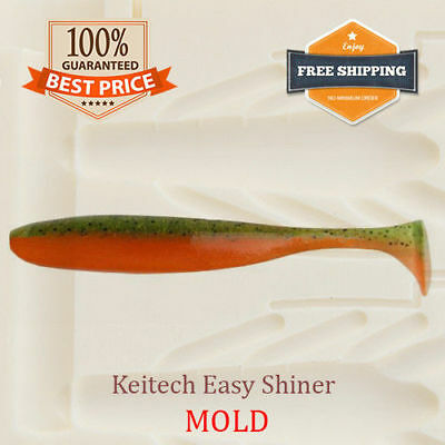 🔥 Keitech Easy Shiner Bait Mold Shad Swimbait Soft Plastic Lure 38-88 mm