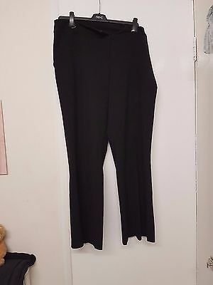 Ladies black boot cut trousers size 14 from Dorothy Perkins