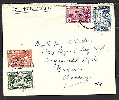 1954 Malaya (Malacca) Cover To Germany