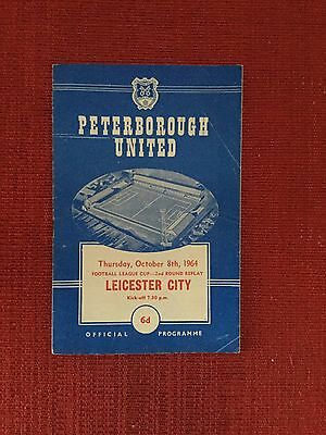 Peterborough Utd v Leicester City 1964 League Cup Replay