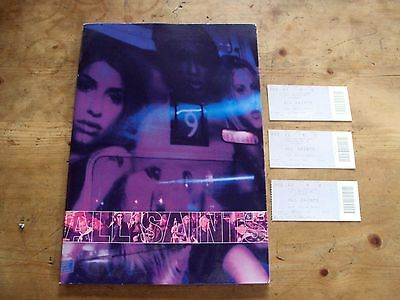 ALL SAINTS - TOUR / CONCERT PROGRAMME 1999 + 3 WEMBLEY TICKETS Program