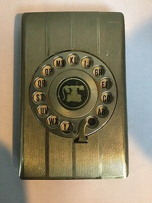 Vintage Telephone Address Book Rotary Dial Pop Up Fagle