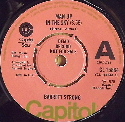 "Barrett Strong- Man up in the sky Demo.7"" Single 1976"