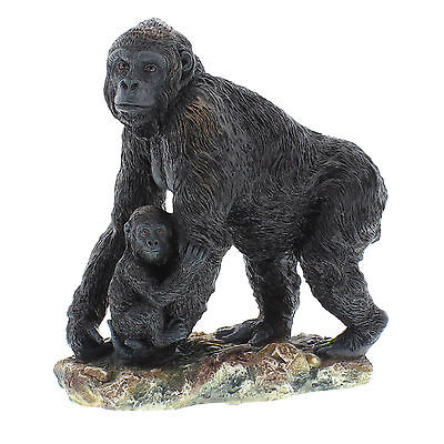 Animal Planet Gift Ornament Gorilla with Baby Statue Figurine Official Product
