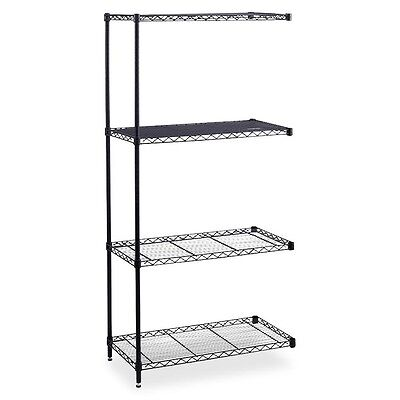 "Industrial Wire Shelving Add-On Unit - 36"" x 24"" x 72"" - 4 x Shelf(ves) -..."