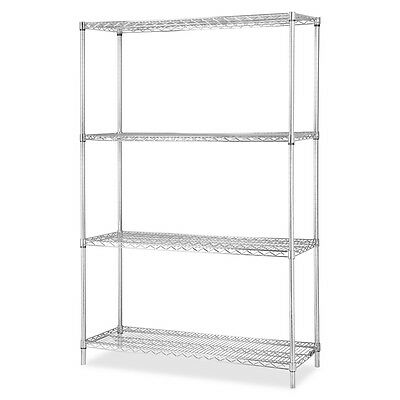 "Industrial Chrome Wire Shelving Starter Kit - 36"" Width x 24"" Depth - Steel..."