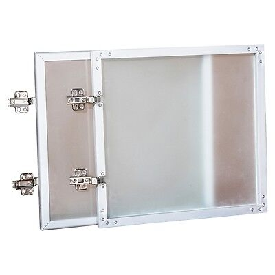 "Wall-Mount Hutch Frosted Glass Door - 36"" Door, 16.6"" x 16"" x 0.9"" -..."
