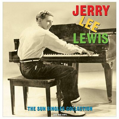 LP - Jerry Lee Lewis - The Sun Singles Collection - Rockabilly, Red Vinyl