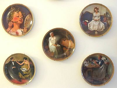 """Rediscovered Women"" Knowles Plates (12) Series #4  - Rockwell Nice Gift"