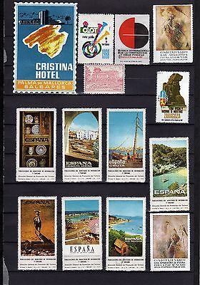Spain poster stamps Feria Expo divers 3 scans