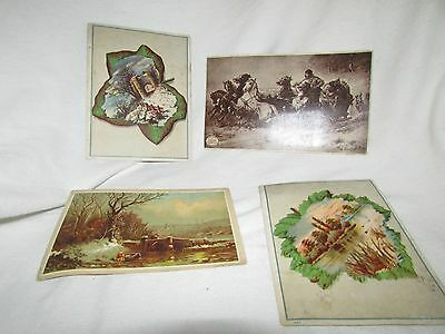 Vintage Lot of 4 Advertising Cards, Stevens' Coffee, Candee Rubber, Stimon's Sud