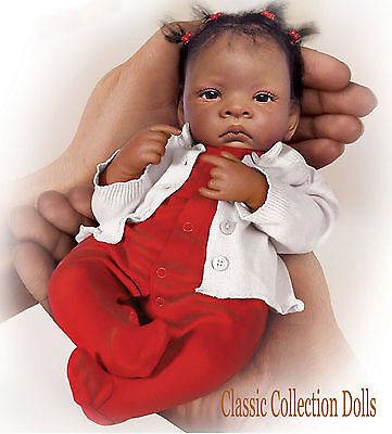 "Ashton Drake ""TINY MIRACLE JASMINE"" MINIATURE LIFELIKE BABY DOLL-NEW-IN STOCK !"