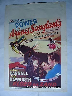 BLOOD AND SAND/TYRONE POWER /ME15F/  BELGIAN poster