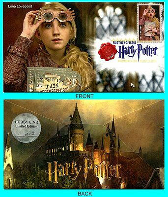 Harry Potter Luna Lovegood  First Day Cover with Color Cancel Type 1