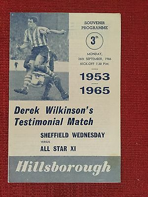 Sheffield Wednesday v All Star XI, 1966 Derek Wilkinson Testimonial