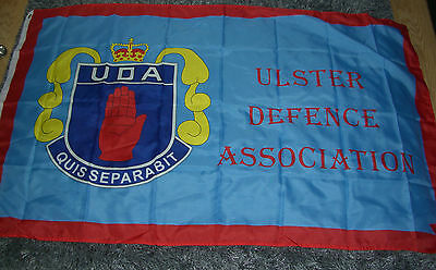 NEW ULSTER LOYALIST FLAG 5x3, ULSTER DEFENCE ASSOC , SOMME POPPY RANGERS UDA UFF