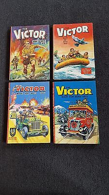 4 copies of the annual Victor Book for boys -  Excellent Condition DC Thomson