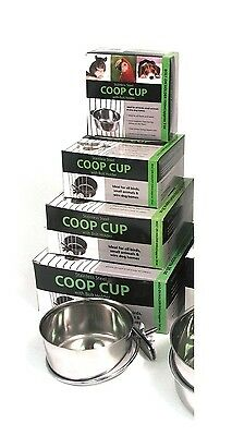 Rosewood Stainless Steel Coop Cup Dish Bolt Holder Bird Small Pet Animal Feeder