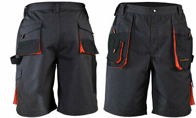 Mens  Heavy Duty Cargo Work Short Combat Trousers Tool Pants