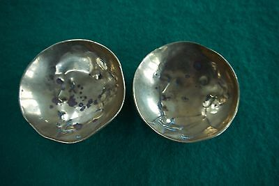 Charles Dickens ? American President ? Two very old & weighty pin dishes. Salts