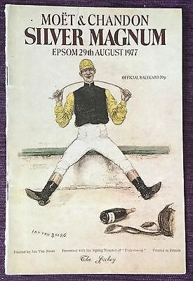 Epsom Race Card 1977 Silver Magnum Day Moët & Chandon Official Programme