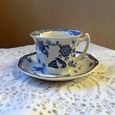 Small Old Bow Kaftyemon Wood's Ware Tea Cup& Saucer