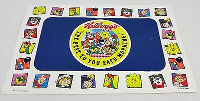 Vintage 1996 Kellogg's Cereal Placemat Tony the Tiger, Kitchenware Advertising