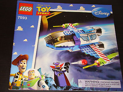 Lego 7593 Disney Toy Story Buzz's Star Command Ship Instruction Manual Only