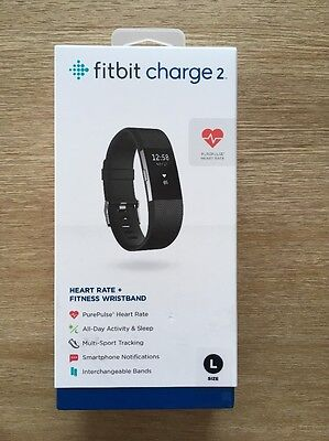 NEW Fitbit Charge 2 Heart Rate & Activity Tracker - Large / Black