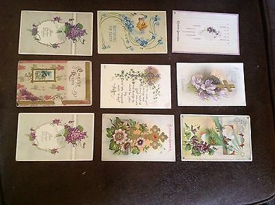 Vintage Easter Postcards Early 1900's Lot Of 9
