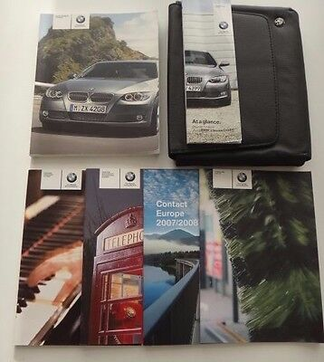 BMW 3 Series Convertible/Coupe Owners Manual/Handbook Pack & Wallet 2006-2009