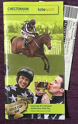 Signed Race Card 2011 Cheltenham Gold Cup Autographed Ruby Walsh & Sam Thomas