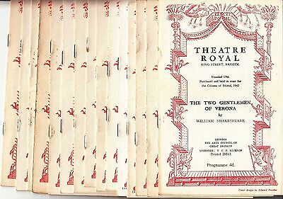 15 BRISTOL Theatre Programmes from 1952