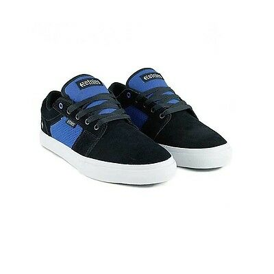 NEW IN BOX. Etnies Barge Skate Shoes Size UK 8.Navy/Blue/White