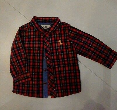Next boys checked long sleeved shirt 6-9 months