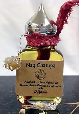 Nag Champa Authentic Superior Grade Long Lasting Thick Uncut Oil Strong 15 ml.
