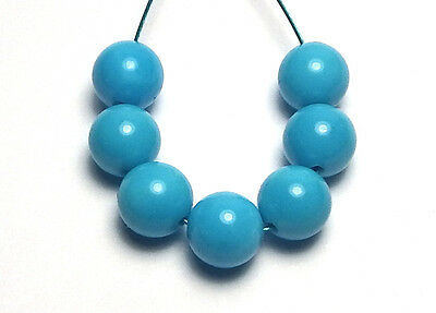 7 pcs SLEEPING BEAUTY TURQUOISE 6mm Round Beads AAA NATURAL COLOR /R4