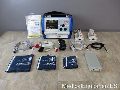 ZOLL M Series Biphasic 3 Lead ECG SpO2 NIBP Analyze ALS with Case & Paddles