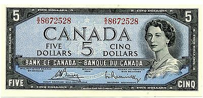 *** NICE * Bank Of Canada * Uncirculated 1954 * $5 Note * Modified Version ***