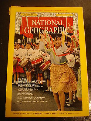 National geographic - Dec 1971 - Zulus - Octopus - Gems - St Peter's - China