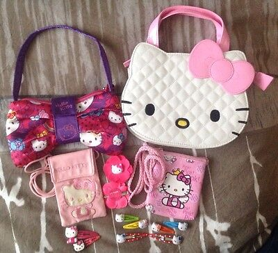Assortment of Hello Kitty Bags/Purses/Hair Clips