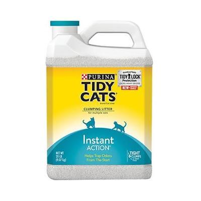 Purina Tidy Cats Clumping Litter Instant Action for Multiple Cats 40 lb. Box