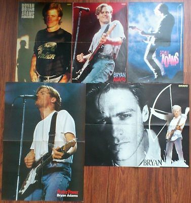 BRYAN ADAMS Posters Photos Clippings Lot