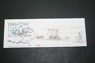 Greenland Groenland,   2005, Peary minisheet used