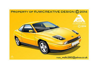 FIAT Coupe Poster Illustration