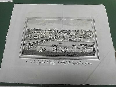 100% Original Madrid  Prospect View Map By Kitchin/bowen  C1780 Vgc Low Postage