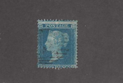 GB # 19 2d BLUE VERY LIGHTLY CANCELLED CAT VALUE $375