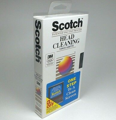 NEW Scotch VHS SVHS Dry Head Cleaning Videocassette Patented One Step Process